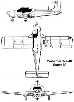 wassmer40 3v model airplane plan