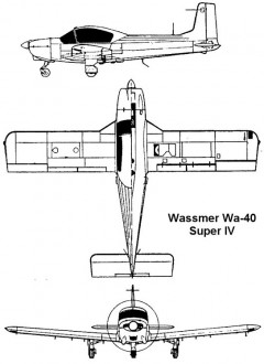 wassmer40 3v model airplane plan