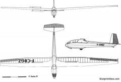 wassmer wa 20 javelot model airplane plan