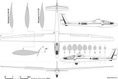 wassmer wa 26p squale model airplane plan