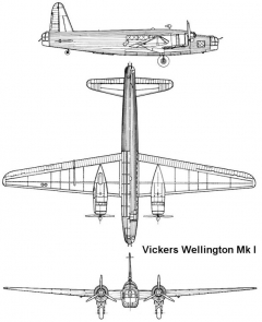 wellington1 3v model airplane plan