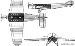 westland dreadnought 1923 england model airplane plan