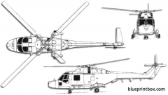 westland lynx 2 model airplane plan