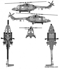 westland lynx has2 2 model airplane plan