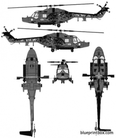 westland lynx has3 model airplane plan