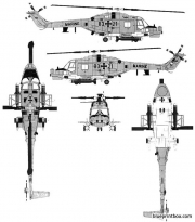 westland lynx mk88 model airplane plan