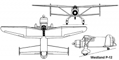 westland p12 3v model airplane plan