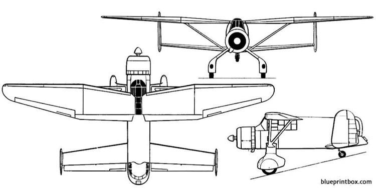 westland p 12 model airplane plan