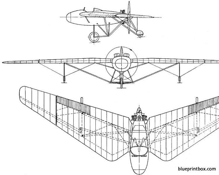 westland pterodactyl mk ia ib 1925 england model airplane plan