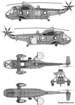 westland sea king aew mkiia model airplane plan