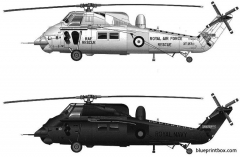 westland wessex has3 model airplane plan
