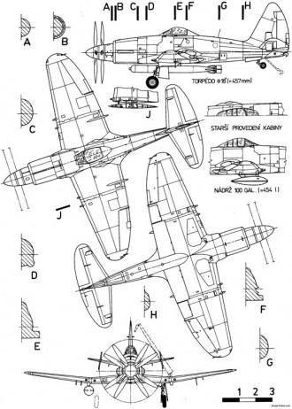 westland wyvern model airplane plan
