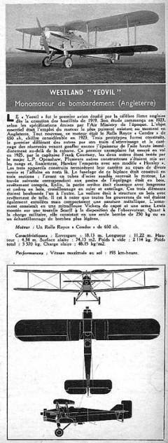 westland yeovil model airplane plan
