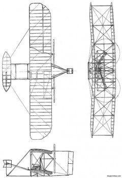 wright flyer usa 1903 model airplane plan