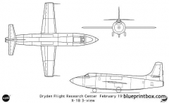 x 1b model airplane plan