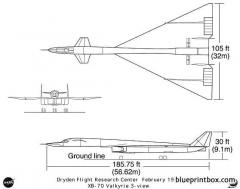 xb 70 model airplane plan