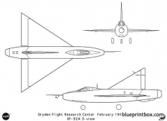 xf 92a model airplane plan