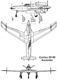 xp55 3v model airplane plan
