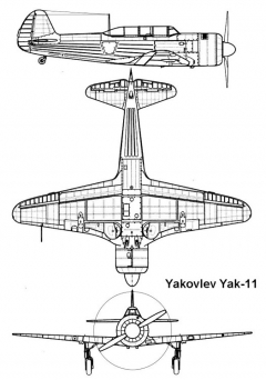 yak11 1 3v model airplane plan