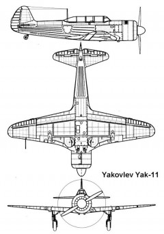 yak11 1 3v model airplane plan