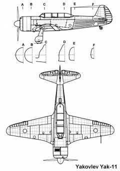 yak11 2 3v model airplane plan