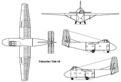 yak14 3v model airplane plan