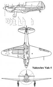 yak1 3v model airplane plan