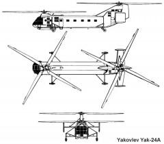 yak24 3v model airplane plan