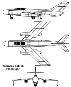 yak25 3v model airplane plan
