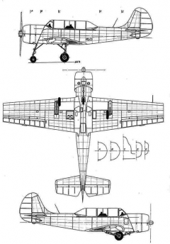 yak52 1 3v model airplane plan