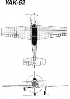 yak52 2 3v model airplane plan