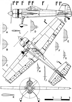 yak55 3v model airplane plan