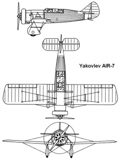 yak air7 3v model airplane plan