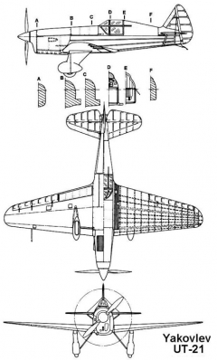 yak ut21 3v model airplane plan