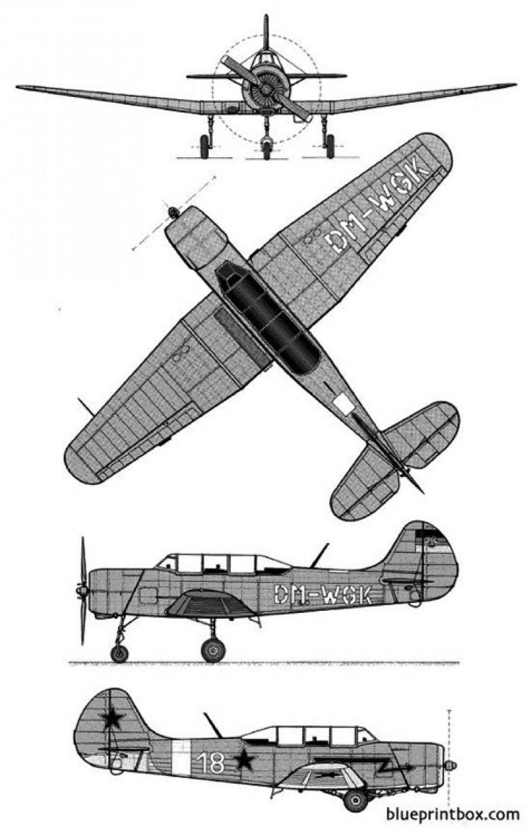yakolew yak 18 a model airplane plan