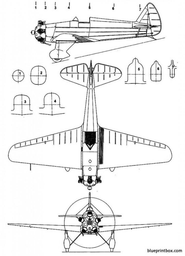 yakovlev ut 1 model airplane plan