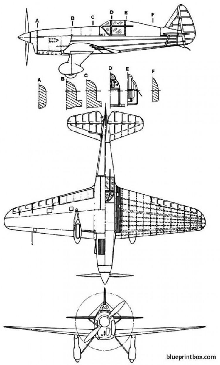 yakovlev ut 21 model airplane plan