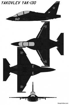 yakovlev yak 130 model airplane plan