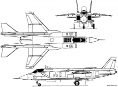 yakovlev yak 141 1989 russia model airplane plan