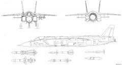 yakovlev yak 141 x 3 model airplane plan