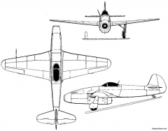 yakovlev yak 15 1946 russia model airplane plan