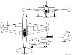 yakovlev yak 17 1947 russia model airplane plan
