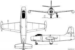 yakovlev yak 19 1947 russia model airplane plan