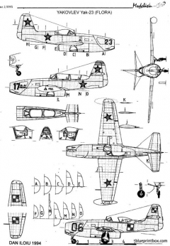 yakovlev yak 23 model airplane plan
