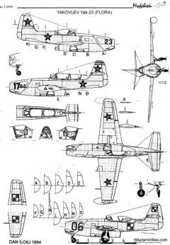 yakovlev yak 23 model airplane plan