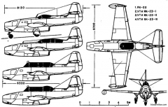 yakovlev yak 23 2 model airplane plan