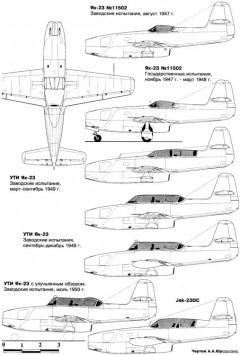 yakovlev yak 23 4 model airplane plan