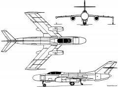 yakovlev yak 25 1952 russia model airplane plan