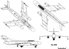 yakovlev yak 25 5 model airplane plan