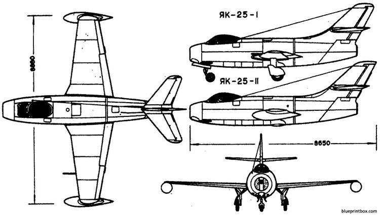 yakovlev yak 25 7 model airplane plan